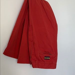 Rugby tomato red cotton pants